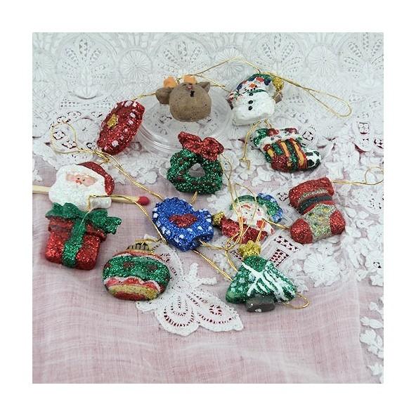 Christmas Miniatures.Decorations Christmas Miniatures Mercerie De Poupee