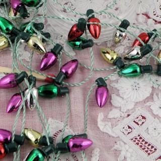 Decoración de Navidad guirnalda casa de muñecas en miniatura