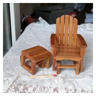 Miniatur-Sonnenliege Puppe Haus stuhl