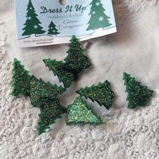 Árbol de Navidad botón de vestir