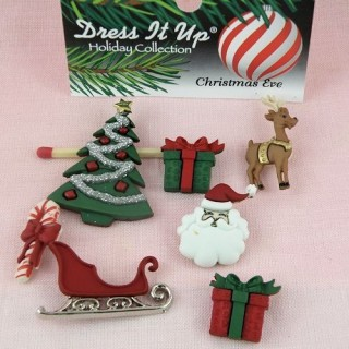 Buttons Dress it up, christmass gifts buttons