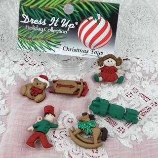 Weihnachtsgeschenk-Buttons kleiden es