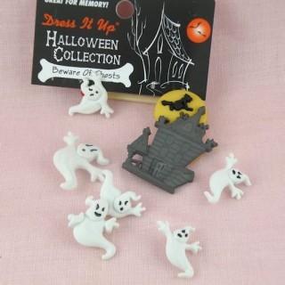 Bouton Halloween fantomes Dress it up,