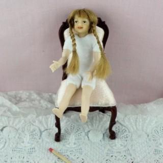 Poupée enfant articulée1/12 miniature maison 10 cm