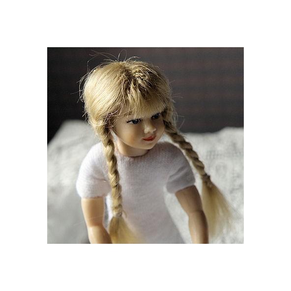 Perücke für kleine Puppe Haus 1 / 12eme