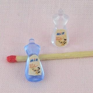 Flacon liquide vaisselle miniature maison poupée 2 cm