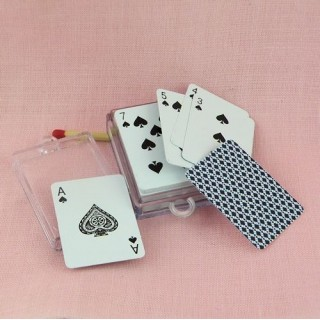 Playing cards miniatures 4 cms.
