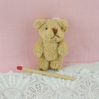 Small Bear fluffy mohair jointed 4 cms