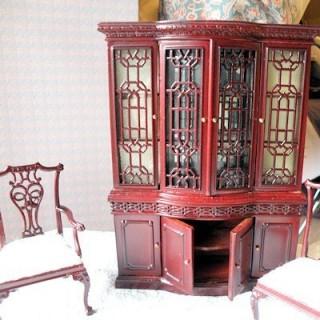 Vaisselier vitrine meuble miniature maison poupée,