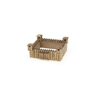 Wooden raw old west fort kit 14 cms