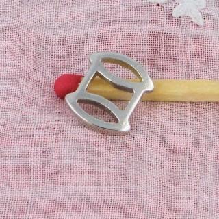 Metal reel pendant miniature, bracelet charm 1,7 cm.