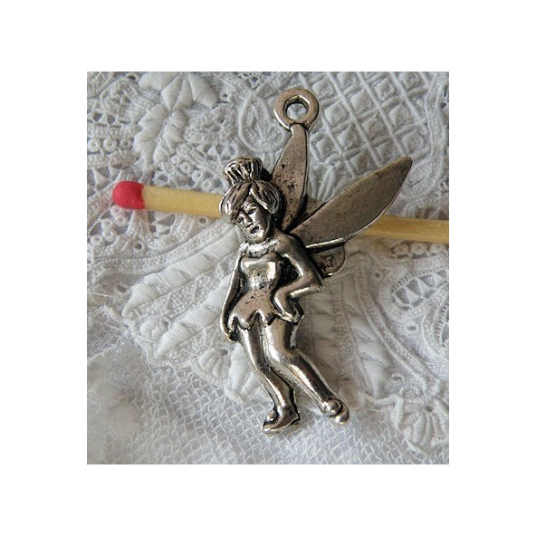 Fairy bracelet charms, Pendant angel, Cherub metal, .4 cms