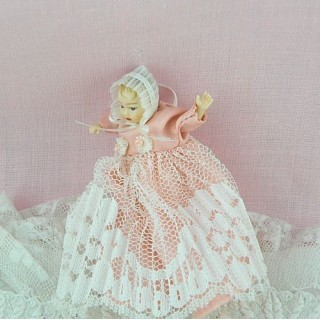 Miniature baby character doll 1/12, luxurous and articuled