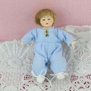 Poupée bébé articulée luxe miniature maison 1/12 6cm