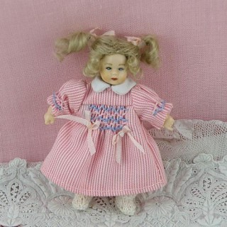 Miniature pajamas toddler character doll 1/12 luxurous and articuled