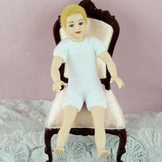 Poupée enfant articulée luxe miniature maison 10 cm