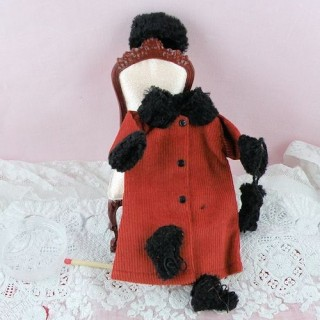 Manteau et toque miniature maison poupée 1/12eme