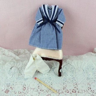 Miniature sailor dress outfit doll house 1 / 12eme