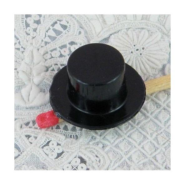 Chapeau haut forme plastique minuscule 2 cm.