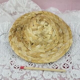 Hat straw with edge, 8 cms.