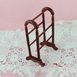Wooden clothes stand dollhouse miniature 16 cms.