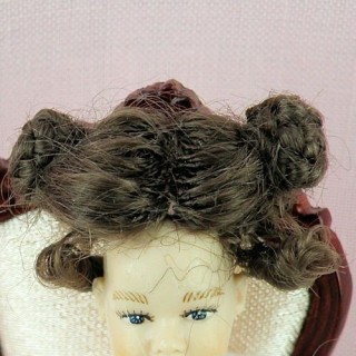Wig for miniature doll dislocates doll house 1 / 12eme