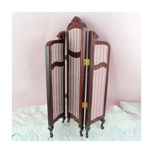paravent r tro miniature maison poup e 16 cm. Black Bedroom Furniture Sets. Home Design Ideas