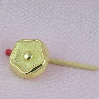 Shank golden button 2 cms