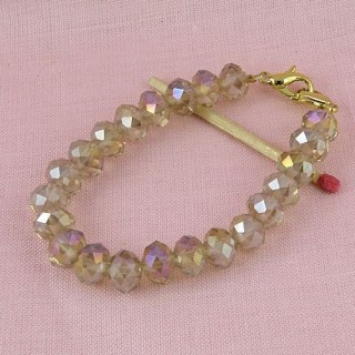 Base bracelet faceted beads jewelry creation