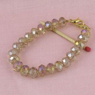 Base Bracelet perles à facettes création bijoux