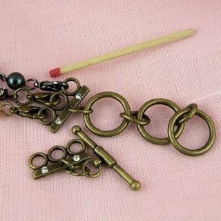 Attache fils bijoux, fermoir,7 mm, 0,7 cm.