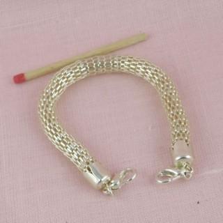 Base pulsera de creación de serpiente malla joyería