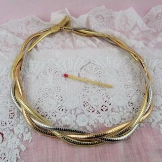 Collier maille serpent trois rangs fabrication bijoux