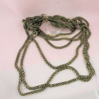 Silver six rope layers necklace bottom
