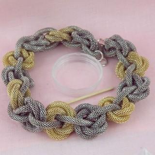 Base collier maille serpent création bijoux