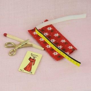 Accesorios costura miniatura casa de muñeca