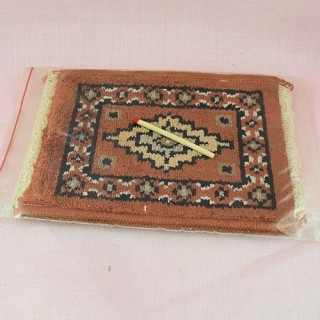 Pochette serviette lin brodée MAMAN, 22cm x10,5cm.