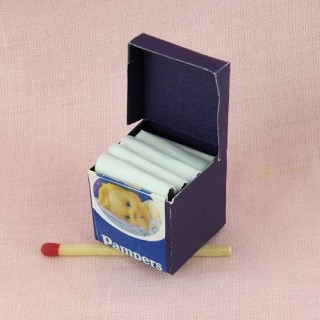 Package layers miniature baby house headstock 1/12