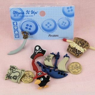 Boutons pirates bateau trésor Dress it up,