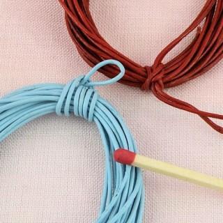 Rouleau de fil de cuir de 0,5 mm