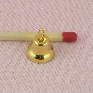 Gold Liberty Bell for dollhouse 10mm