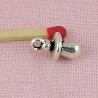 Breloque mini Tétine métal  miniature poupée 1/12
