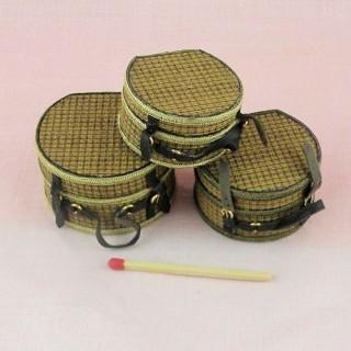 Caja sombrero miniatura casa muñeca