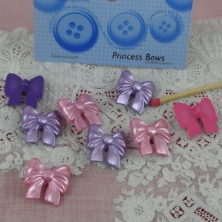 Princess bows buttons Dress it Up 3 cms.