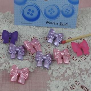 Princess bows buttons Dress it Up 3 cms.