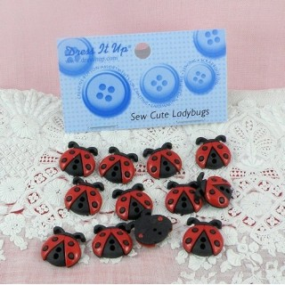 Buttons Dress It Up, ladybugs: