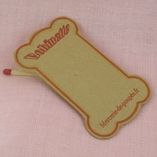 Floss bobbins, Reel card...