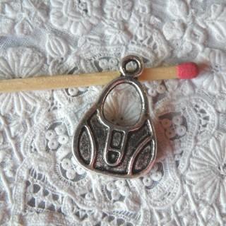 Anhänger Handtasche Metall Miniaturquersack