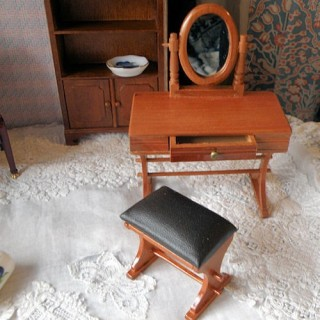 Miniature Dresser with mirror, dollhouse furniture bedroom