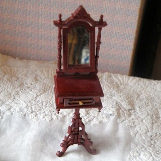 Miroir à pied inclinable miniature maison poupée,